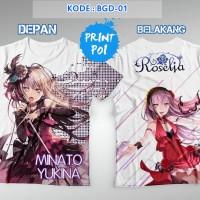 Kaos BanG Dream - Minato Yukina - Roselia - FullPrint