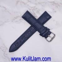 Tali Jam Tangan Kulit Asli Cortina ITALY Aligator Dark Blue