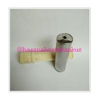 Cetakan kue alat tradisional pembuat akar kelapa dorong kayu jadul
