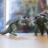 Pajangan Action Figure 2 Inch Godzilla Bandai Vinyl Padat Mainan