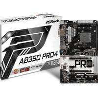 ASRock AB350 Pro 4 (AM4, AMD Promontory B350, DDR4, USB3.1, SATA3)