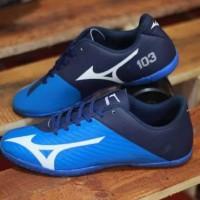Free Bonus !!! Sepatu Pria Murah Futsal Mizuno 103 Blue Black