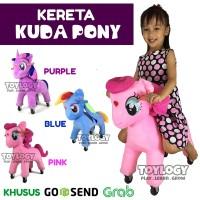 Mainan Anak Kereta Dorong Boneka Kuda Pony Odong Kuda Kudaan