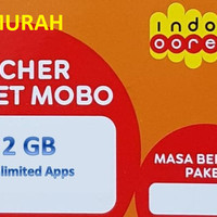Voucher Data Indosat 2GB + Unlimited Apps