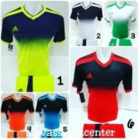 Jersey Futsal Baju Volly Kaos Bola Setelan Olahraga Voli Adidas - Stabilo, M