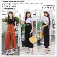 Baju Celana Kodok Jumpsuit Kulot Overall Wanita Korea Import AB834185