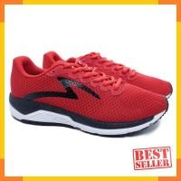 Sepatu Running Specs Dual Enduro - True Red Black White - Merah