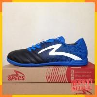 Sepatu Futsal Specs Equinox IN Black Tulip Blue 400772 Original BNIB