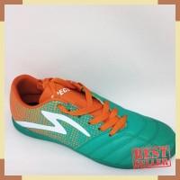 Kicosport Sepatu futsal specs Equinox in comfrey green orange white