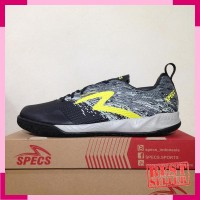Sepatu Futsal Specs Metasala Warrior Black Cool Grey 400780 Original