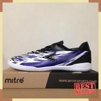 Sepatu Futsal Mitre Flare IN Black Blue White T01040013 Original BNIB