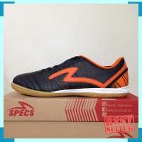 Sepatu Futsal Specs Horus IN Black Orange 400313 Original BNIB