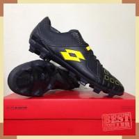 Sepatu Bola Lotto Squadra FG Jet Black Sunshine L01010010 Original