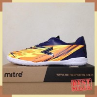 Sepatu Futsal Mitre Flare IN Navy Hex Orange T01040014 Original BNIB