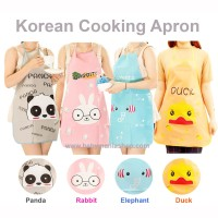 Apron Masak Celemek Karakter Plastik / Cooking Apron Korea / Chef Alat