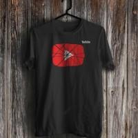 Kaos Youtube Logo retak / Kaos distro / T-shirt / cotton combed 30s - Hitam, S