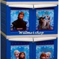 Terlaris Lemari Plastik Napolly Napoly Frozen 3 Pintu 4 Susun Xx2 Froz