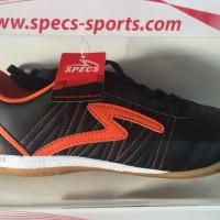 Best Seller Sepatu Futsal Specs Horus Black Orange 2015 Original 100%