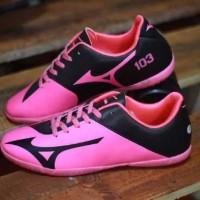 Free Bonus !!! Sepatu Futsal Murah Pria Mizuno 103 Pink Black