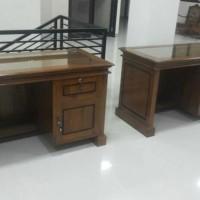 Meja kantor 1/2 biro jati jepara sofa bufet meja divan lemari