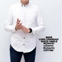 Baju kemeja pria putih kerah Shanghai