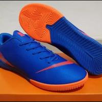 sepatu futsal nike mercurial vapor XII elite blue orange asli