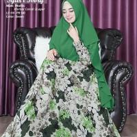 syari muslim gamis dress busui monalisa aufa hijau