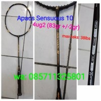 Raket Badminton Apacs Sensuous 10 ! 100% original , max tens: 38Lbs