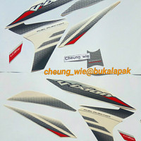 Lis body/ Striping Yamaha New Vixion Lightning NVL Putih 2014