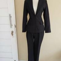 Setelan blazer wanita formal stelan celana rok