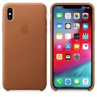 Apple iPhone XS MAX Case Leather - Saddle Brown (ORIGINAL 100%)
