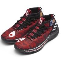 adidas WGM DAME 4X bape damo red
