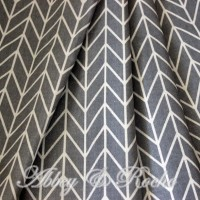 Kain Kanvas Impor motif Grey Stripes