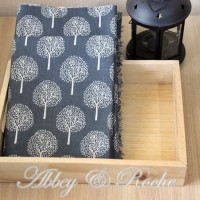 Kain Kanvas Impor motif Grey Oak