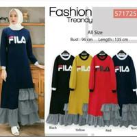 Baju Gamis Muslim Fila Treandy dress casual murah