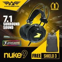 Headphone Nuke 9 Gaming Headset by armageddon Free Shield 3