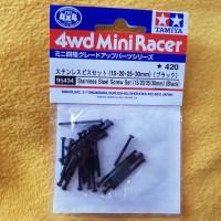 Tamiya 95434 Stainless Steel Screw Set - 15/20/25/30mm Black