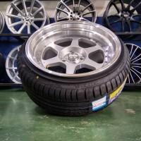 Paket Velg Mobil Ring 17 HSR RUMOI Baut 4 dan Ban ACCELERA 205/45 R17