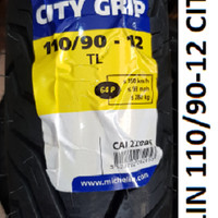 Michelin 110/90-12 City Grip Ban Tubeless Motor Vespa Baru New Scoopy