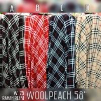 [W.75] kain woolpeach premium / bahan wolfis motif