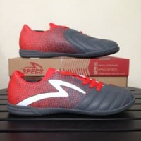 Sepatu Futsal Specs Equinox IN Dark Granite Red 400771 Limited