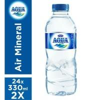 AQUA botol 330ml / AQUA MINI