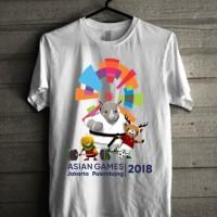 Baju Kaos Asian Games Motif Maskot dan batminton -A.n Hilda Sriyanti R