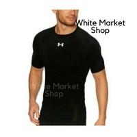 Baju Baselayer Manset Lengan Pendek Adidas/Nike/Underarmour Fitness