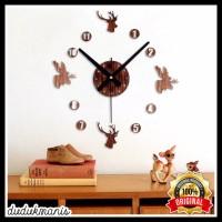 Jam Dinding Besar 30 60cm Diameter ELET00663 Hiasan Dinding PER-077