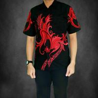 Baju Kemeja Batik Pria Lengan Pendek M-L-XL-XXL