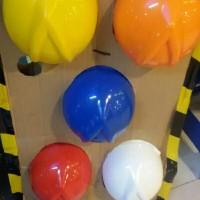 Helm Safety Proyek Arrow Head Komplit inners dan Tali Dagu