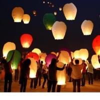 Lampu Lampion Terbang Sky Lantern Lentera New Year Tahun Baru Ultah