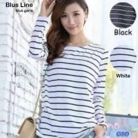 blus line/baju atasan wanita/blouse wanita/blus cewek/blus garis