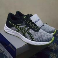 Sepatu Running Asics Fuzex Lyte 2 - Mid Grey/Black/Energy Green